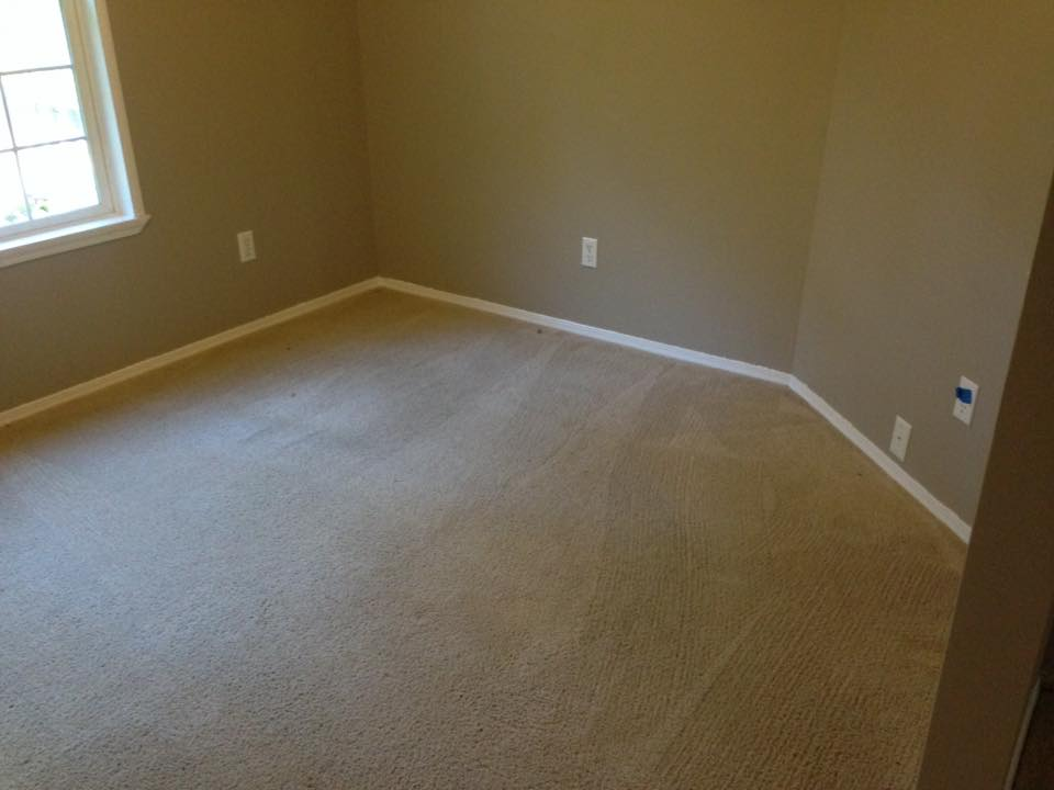 room with clean carpet Before & after photos